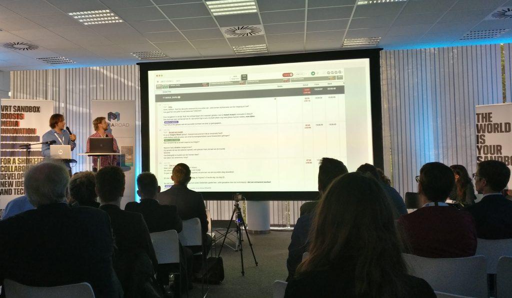 Erik Hauters and Geert Van Winkel presenting Rundown